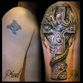 Keltsky kriz,drak,dragon,cover-up, sleeve, rukav